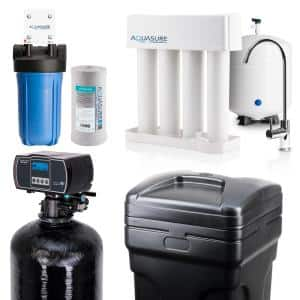 Whole House Filtration with 48,000 Grain Fine Mesh Water Softener, Reverse Osmosis System and Sediment-GAC Pre-Filter