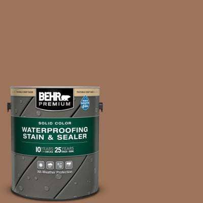 1 gal. #SC-152 Red Cedar Solid Color Waterproofing Exterior Wood Stain and Sealer