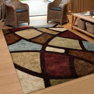 Oval Day Brown 8 ft. x 11 ft. Indoor Area Rug