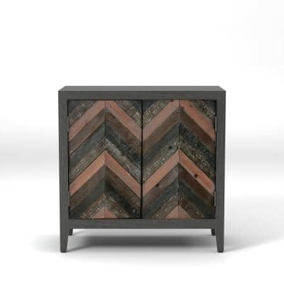 Edulam Distressed Gray Accent Storage Cabinet