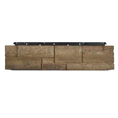 8 in. x 36 in. Versetta Stone Tight-Cut Corner Terra Rosa Siding (6-Bundles Per Case)