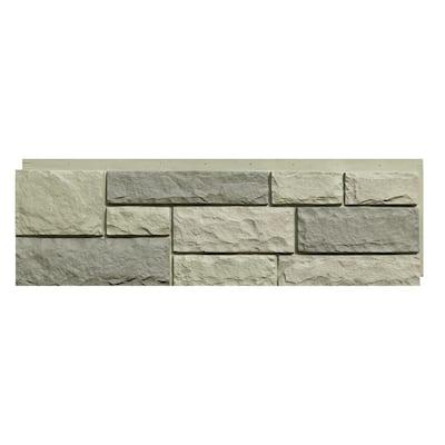 Random Rock 15.5 in. x 48 in. Faux Stone Siding Panel in Tri Gray (4-Pack)