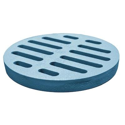 8 in. O.D. Cast Iron Grate for Code Blue No Caulk (Mechanical Joint) Cesspool Drain