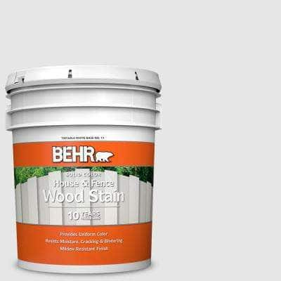 5 gal. #PR-W09 Nimbus Cloud Solid Color House and Fence Exterior Wood Stain