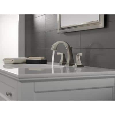 Dryden 8 in. Widespread 2-Handle Bathroom Faucet with Metal Drain Assembly in Spotshield Stainless