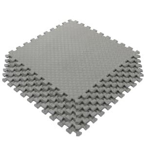 Multi-Purpose Grey 24 in. x 24 in. EVA Foam Interlocking Anti-Fatigue Exercise Tile Mat (6-Piece)