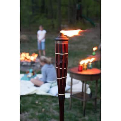60 in. Royal Polynesian Bamboo Torch Dark Finish (Pack of 4)