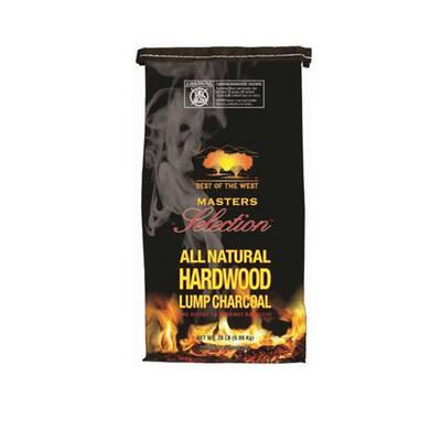 Masters Selection All Natural Hardwood Lump Charcoal, 20 lbs., Wood Chunks