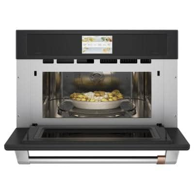 30 in. 1.7 cu. ft. Smart Electric Wall Oven and Microwave Combo with 120-Volt Advantium Technology in Matte Black