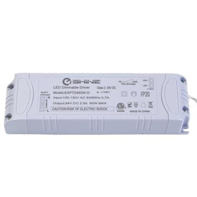 24-Volt DC 60-Watt 2.5 Amp Dimmable Power Cord Supply Transformer for LED Lighting