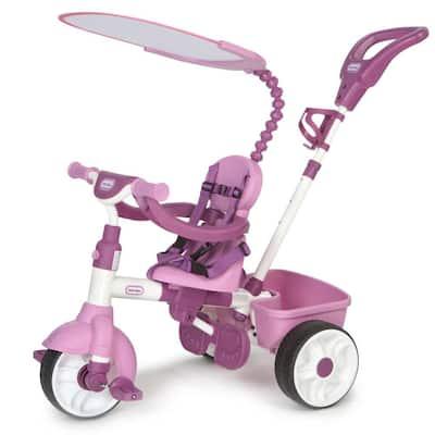 Pink 4-in-1 Basic Edition Parent Push Kid Powered Adjustable Trike