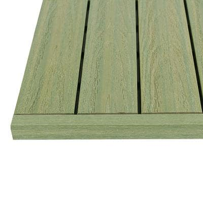 1/6 ft. x 1 ft. Quick Deck Composite Deck Tile Straight Trim in Irish Green (4-Pieces/Box)