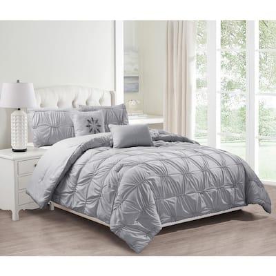 Akita 8-Piece Grey Queen Comforter Set