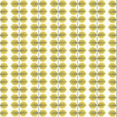 Bers Yellow Leaf Paper Strippable Roll Wallpaper (Covers 57.8 sq. ft.)