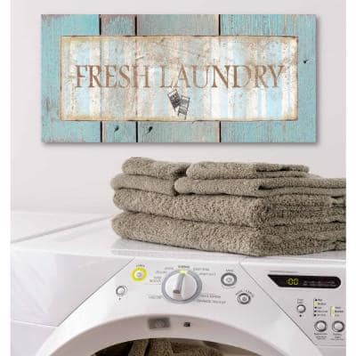 """12 in. x 24 in. """"Laundry Room II"""" Canvas Printed Wall Art"""