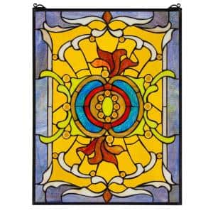 Gilded Age Tiffany-Style Stained Glass Window Panel