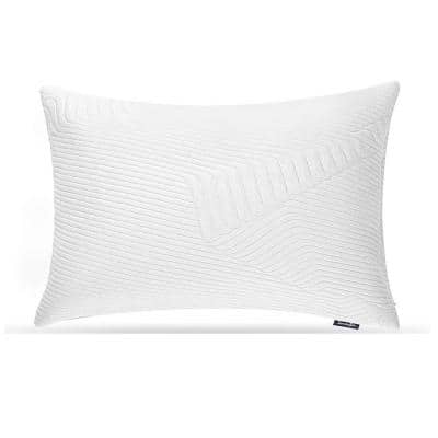 30 in. x 20 in. Queen Size White with Removable Bamboo Charcoal Cover Adjustable Loft Gel Shredded Memory Foam Pillow