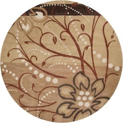 Fremont Tan Wool 8 ft. x 8 ft. Round Area Rug