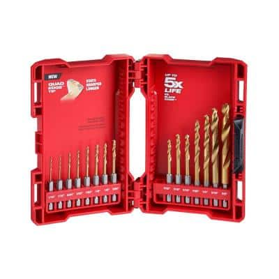 SHOCKWAVE Impact-Duty Titanium Drill Bit Set (15-Piece)