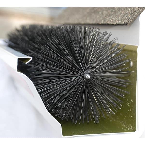 Gutterbrush Standard 5 In 6 Ft Pack Max Flow Filter Brush Gutter Guard 5in 6ft The Home Depot