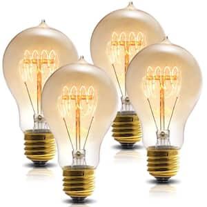 60-Watt A19 E26 Edison Incandescent Light Bulb (4-Pack)