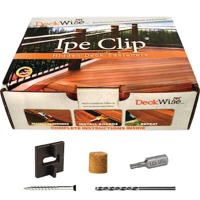 Extreme Ipe Clip Black Biscuit Style Hidden Deck Fastener Kit for Hardwoods (175-Pack)