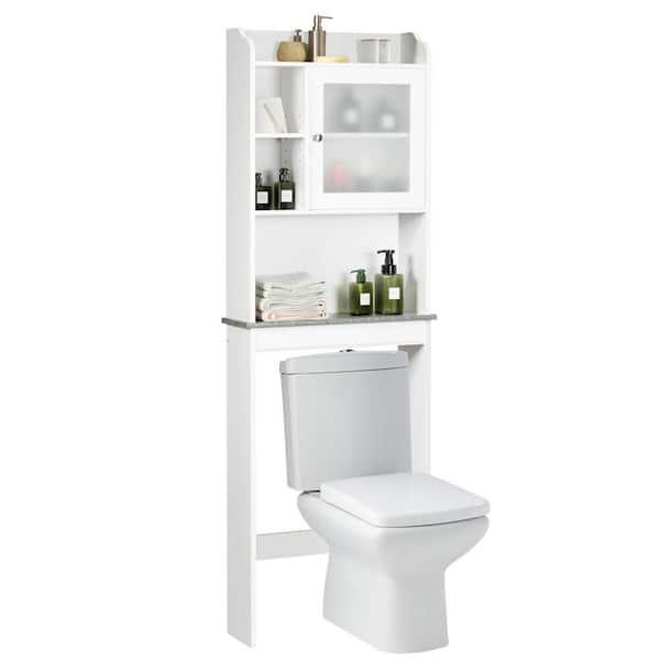 Casainc 23 5 In W Bathroom Space Saver, White Bathroom Space Saver