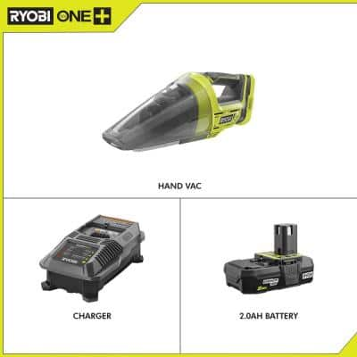 18-Volt ONE+ Lithium-Ion Cordless Hand Vacuum with 2.0 Ah Battery and Charger Kit