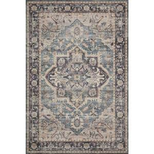 Hathaway Navy/Multi 2 ft. 6 in. x 7 ft. 6 in. Traditional 100% Polyester Pile Runner Rug