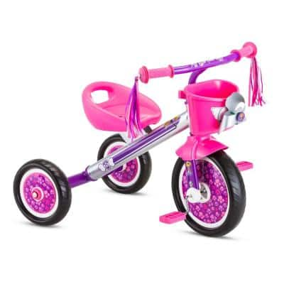10 in. Trike Age: 2-Years to 4-Years in Silver/Pink