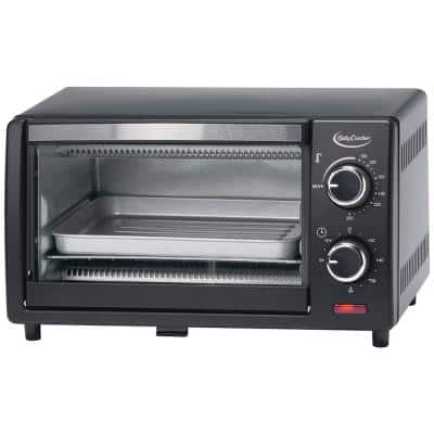 Black 9-Liter Toaster Oven