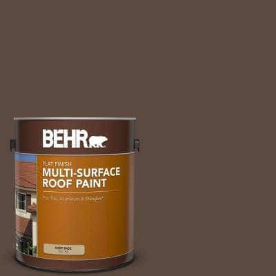 1 gal. #SC-105 Padre Brown Flat Multi-Surface Exterior Roof Paint