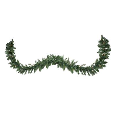 300 in. Pre-Lit Buffalo Fir Commercial Artificial Christmas Garland