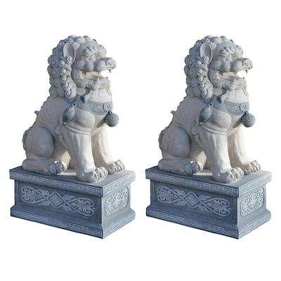 Giant Foo Dog of the Forbidden City Sculpture (2-Piece Set)