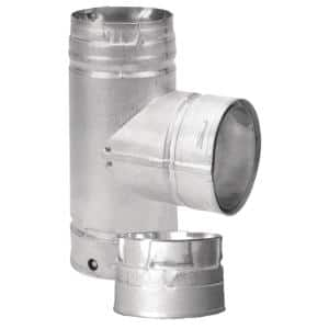 PelletVent 3 in. Tee with Clean-Out Cap