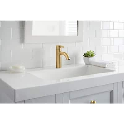 Ryden Single Hole Single-Handle Bathroom Faucet in Brushed Bronze