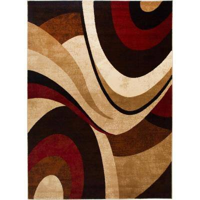 Tribeca Brown/Red 8 ft. x 11 ft. Indoor Area Rug