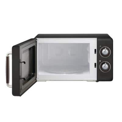 Retro 0.7 cu. ft. Countertop Microwave in Black
