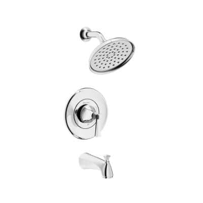 Rumson Single-Handle 1-Spray Tub and Shower Faucet with 1.8 GPM in Polished Chrome Valve Included
