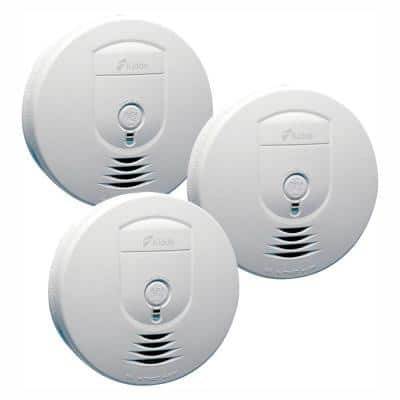 Battery Operated Smoke Detector with Ionization Sensor and Wire-Free Interconnect (3-Pack)