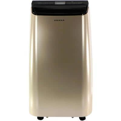 10000 BTU (6,500 BTU DOE) Portable Air Conditioner in Gold and Black