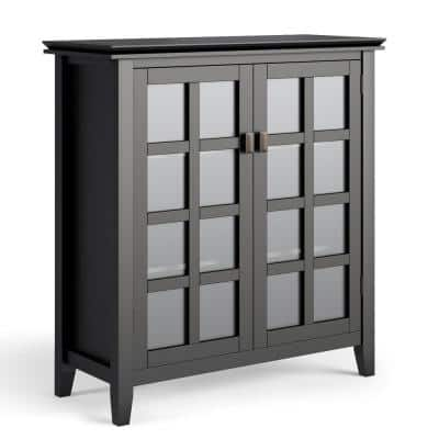Holden 38 in. Black Cabinet Wide Contemporary Medium Storage with Solid Wood