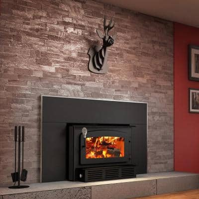 Escape 1400-I 29 in. EPA Certified Wood-Burning Insert Trio