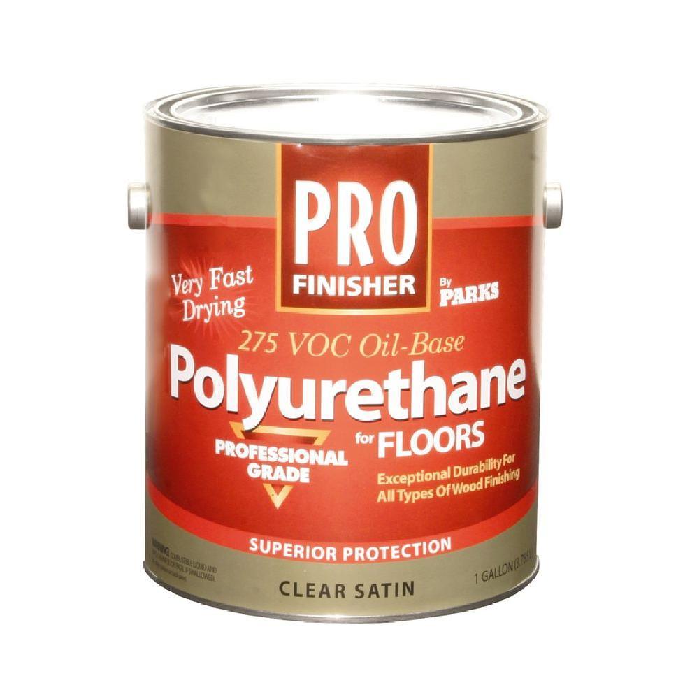 Pro Finisher 1 gal. Clear Satin 275 VOC Oil-Based Polyurethane for Floors (4-Pack)