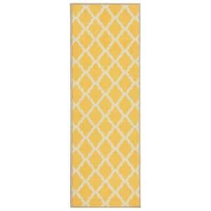 Ottomanson Glamour Collection Contemporary Moroccan Trellis Design Green 2 Ft X 5 Ft Kids Runner Rug Pnk7025 20x59 The Home Depot