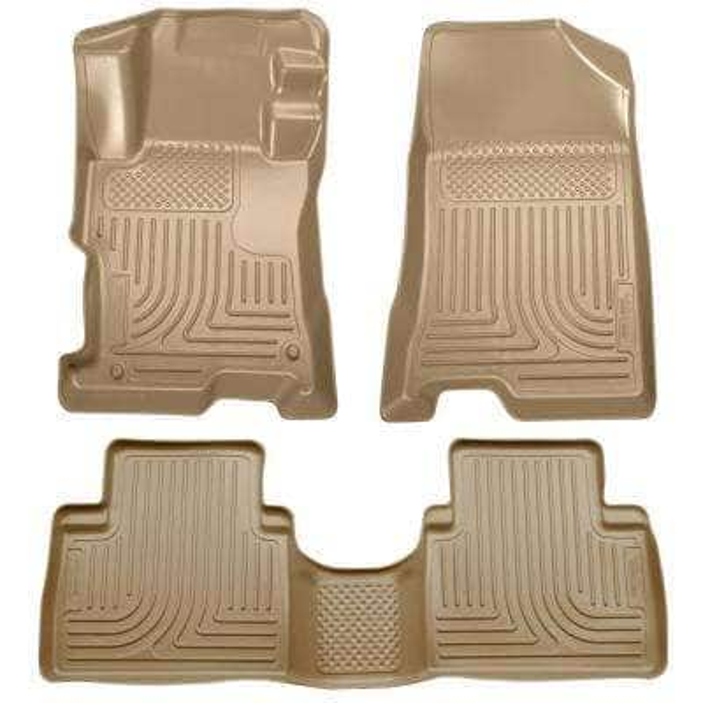 Front & 2nd Seat Floor Liners Fits 08-12 Accord 4 Door