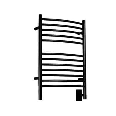 Jeeves E-Curved 12-Bar Hardwired Electric Towel Warmer in Oil Rubbed Bronze