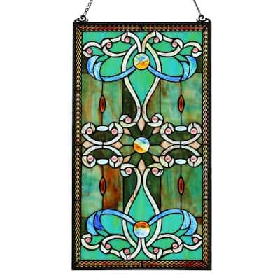 Green Stained Glass Brandi's Window Panel