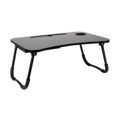 23.5 in. Black Plastic Freestanding Foldable Lap Desk with Fold-Up Legs