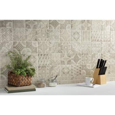 Eclectic Vintage Timeworn Painted 6 in. x 6 in. Ceramic Wall Tile (12.5 sq. ft. / Case)